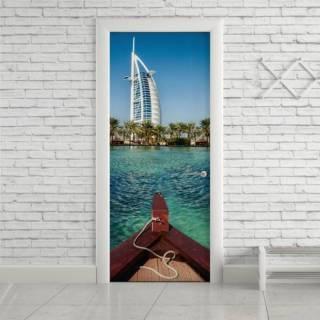Adesivo Para Porta Dubai City