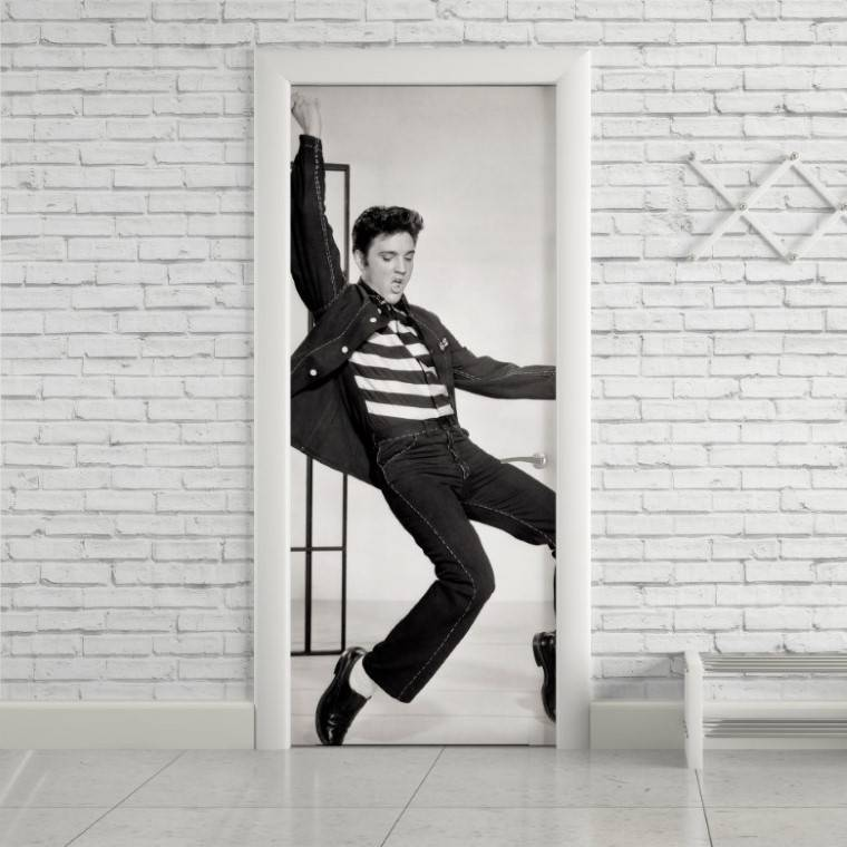 Adesivo Para Porta Elvis Presley imagem 1