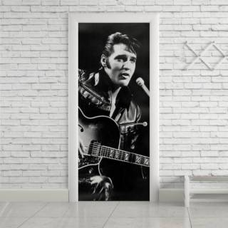 Adesivo Para Porta Elvis
