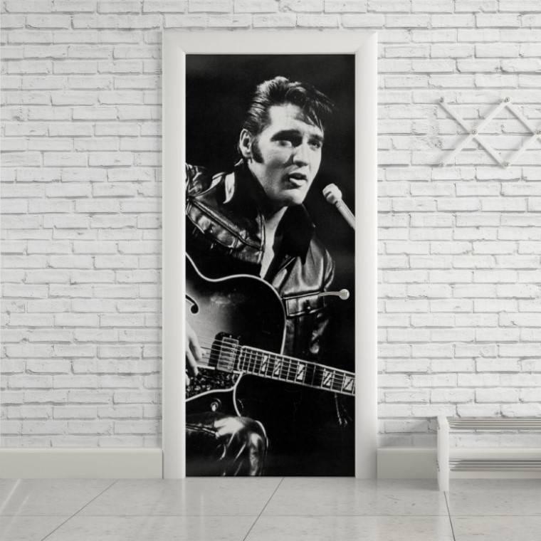 Adesivo Para Porta Elvis  imagem 1