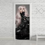 imagem do Adesivo Para Porta Gaga