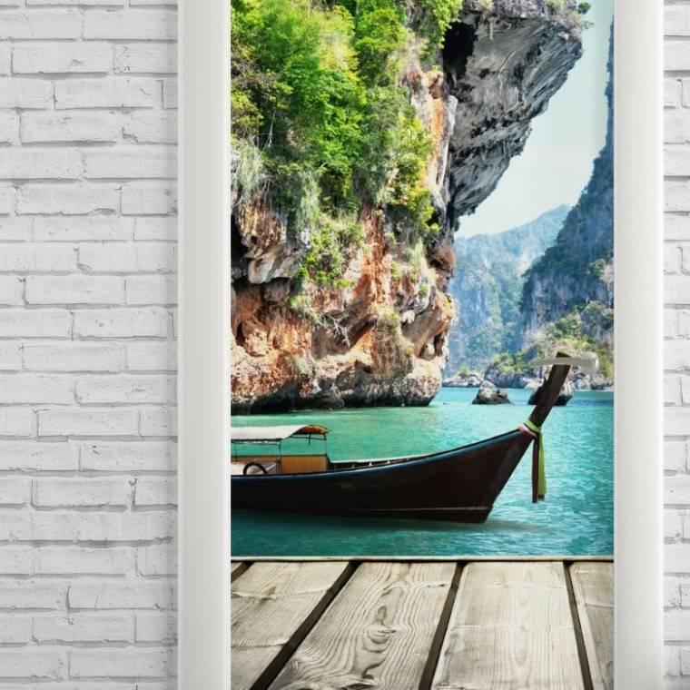 Adesivo Para Porta Praia Phuket imagem 2