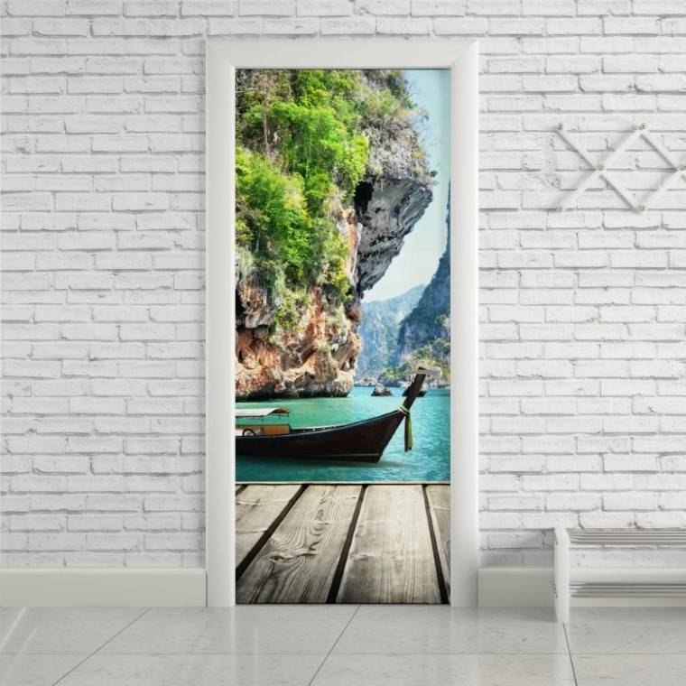 Adesivo Para Porta Praia Phuket imagem 1