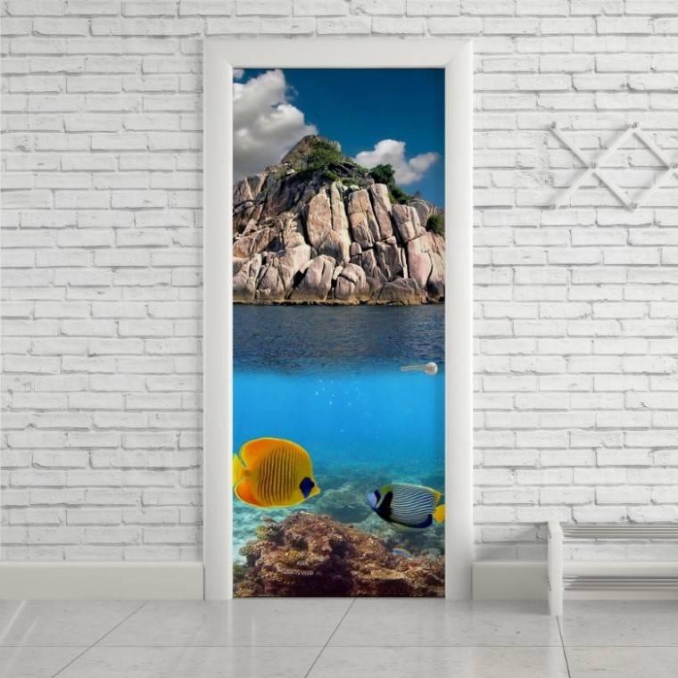 Adesivo Para Porta Mergulho imagem 1