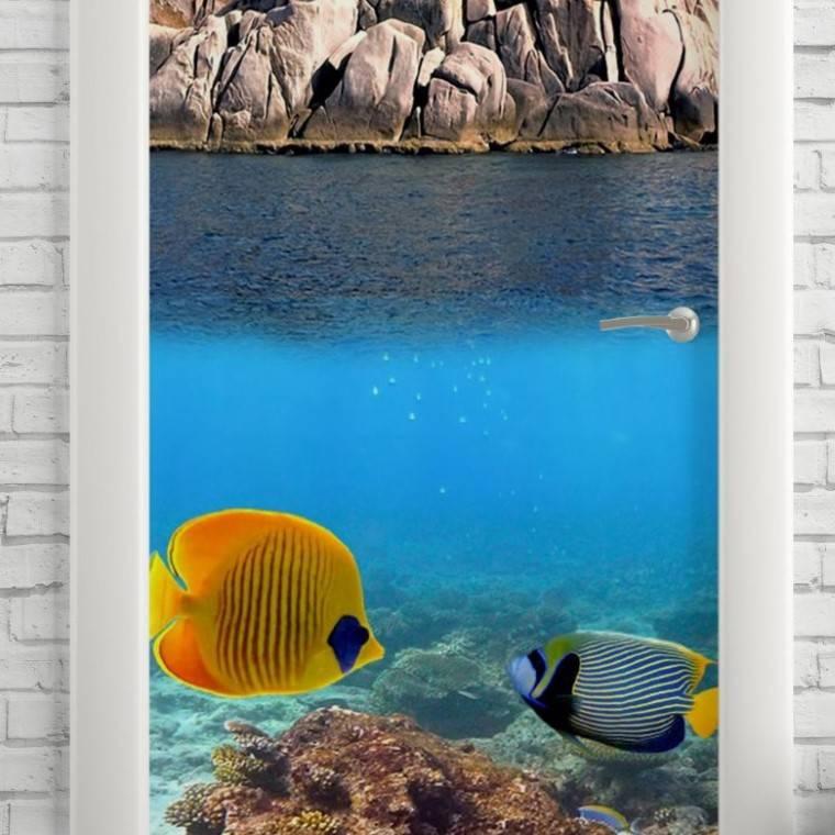 Adesivo Para Porta Mergulho imagem 2