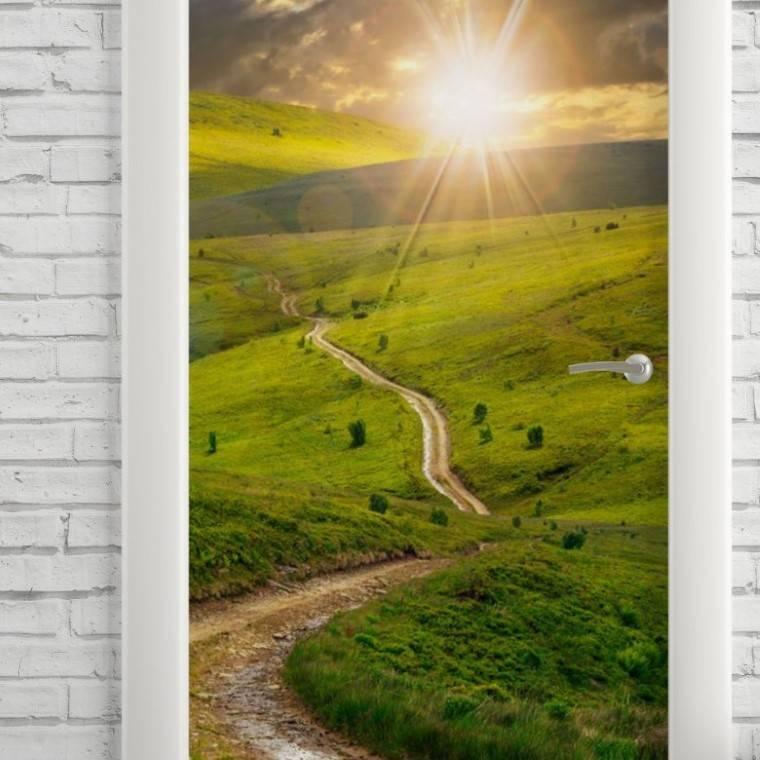 Adesivo Para Porta Natureza Viva imagem 2