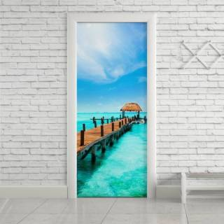 Adesivo de Porta Mar Azul | Redecorei