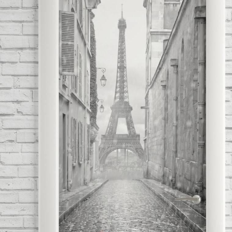 Adesivo Para Porta Paris imagem 2
