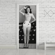 imagem do Adesivo Para Porta Pinup Vintage