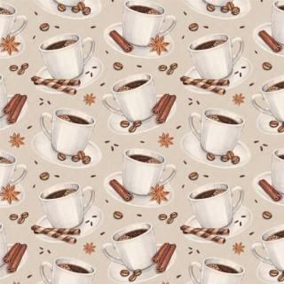 Papel de Parede Adesivo Gourmet Café /Rolo