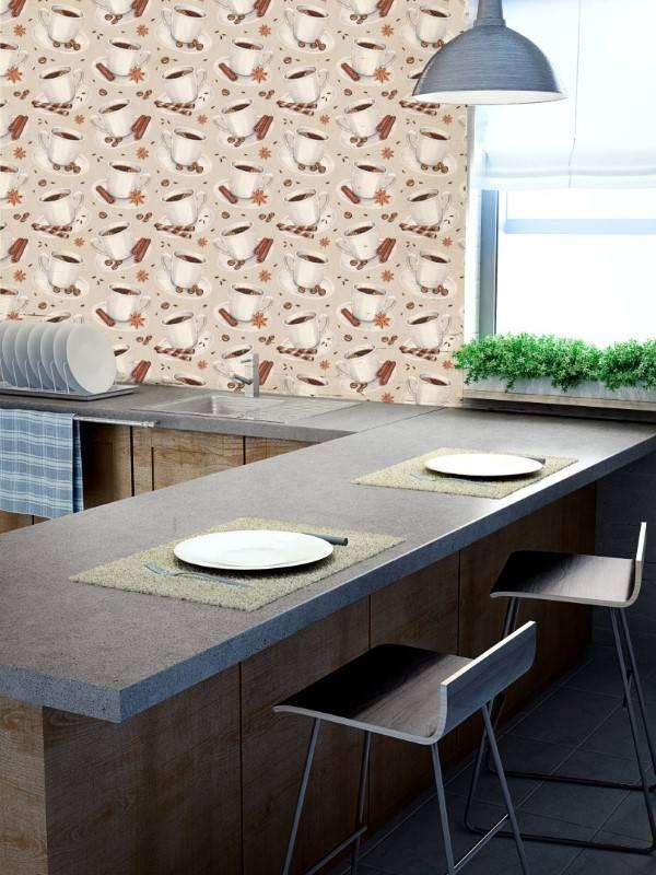 Papel de Parede Adesivo Gourmet Café /Rolo imagem 2