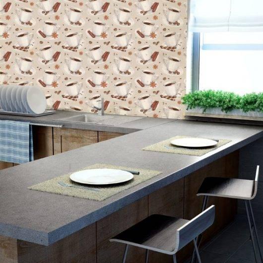 Papel de Parede Adesivo Gourmet Café /Rolo imagem 3
