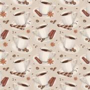 imagem do Papel de Parede Adesivo Gourmet Café /Rolo