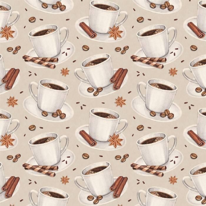 Papel de Parede Adesivo Gourmet Café /Rolo imagem 1