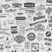 imagem do Papel de Parede Adesivo Gourmet Labels /Rolo
