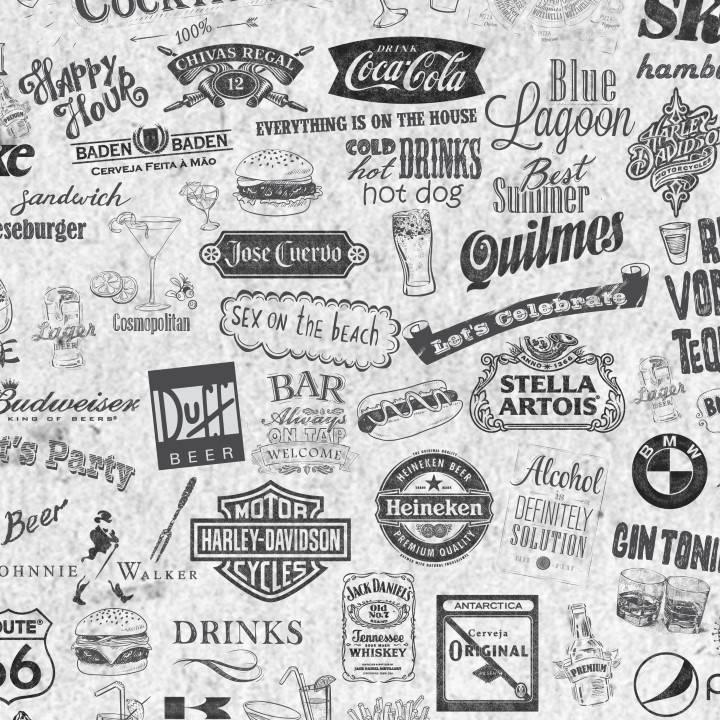 Papel de Parede Adesivo Gourmet Labels /Rolo imagem 1