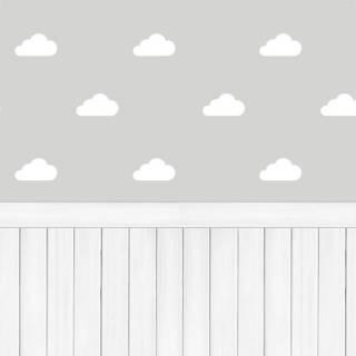 Papel de Parede Adesivo Nuvens com Madeira /Rolo | Redecorei