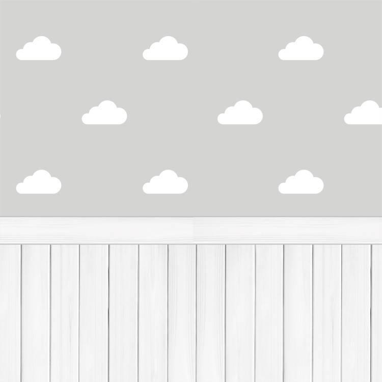 Papel de Parede Adesivo Nuvens com Madeira /Rolo imagem 1