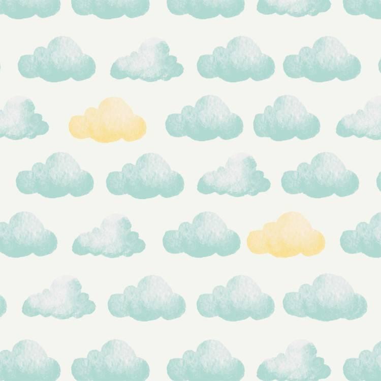 Papel de Parede Adesivo Nuvens  /Rolo