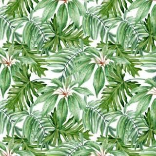 Papel de Parede Floral Folhagem Verde | Adesivo Vinílico