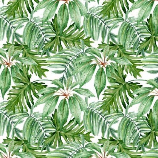 Papel de Parede Floral Folhagem Verde | Adesivo Vinílico imagem 1