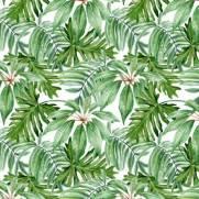 imagem do Papel de Parede Floral Folhagem Verde | Adesivo Vinílico