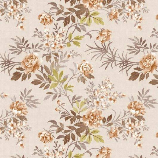 Papel de Parede Floral Marrom | Adesivo Vinílico imagem 1