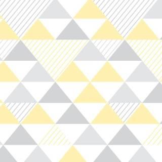 Papel de Parede Triangulo Amarelo | Adesivo Vinilico