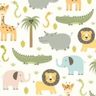 Papel de Parede Infantil Safari | Adesivo Vinilico