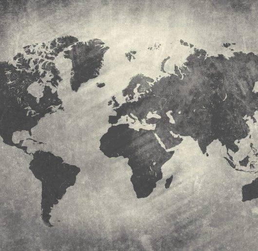 Papel de Parede Adesivo Mapa Cimento Queimado / m²