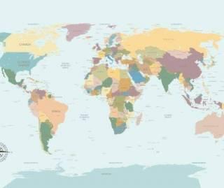 Papel de Parede Adesivo Mapa Português  / m²