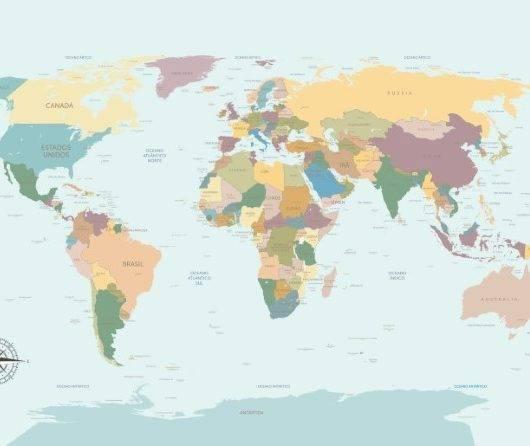 Papel de Parede Adesivo Mapa Português  / m² imagem 1