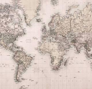 Papel de Parede Adesivo Mapa Vintage 2 / m²