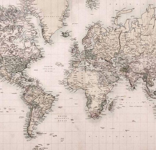 Papel de Parede Adesivo Mapa Vintage 2 / m² imagem 1