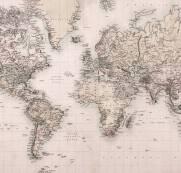 imagem do Papel de Parede Adesivo Mapa Vintage 2 / m²