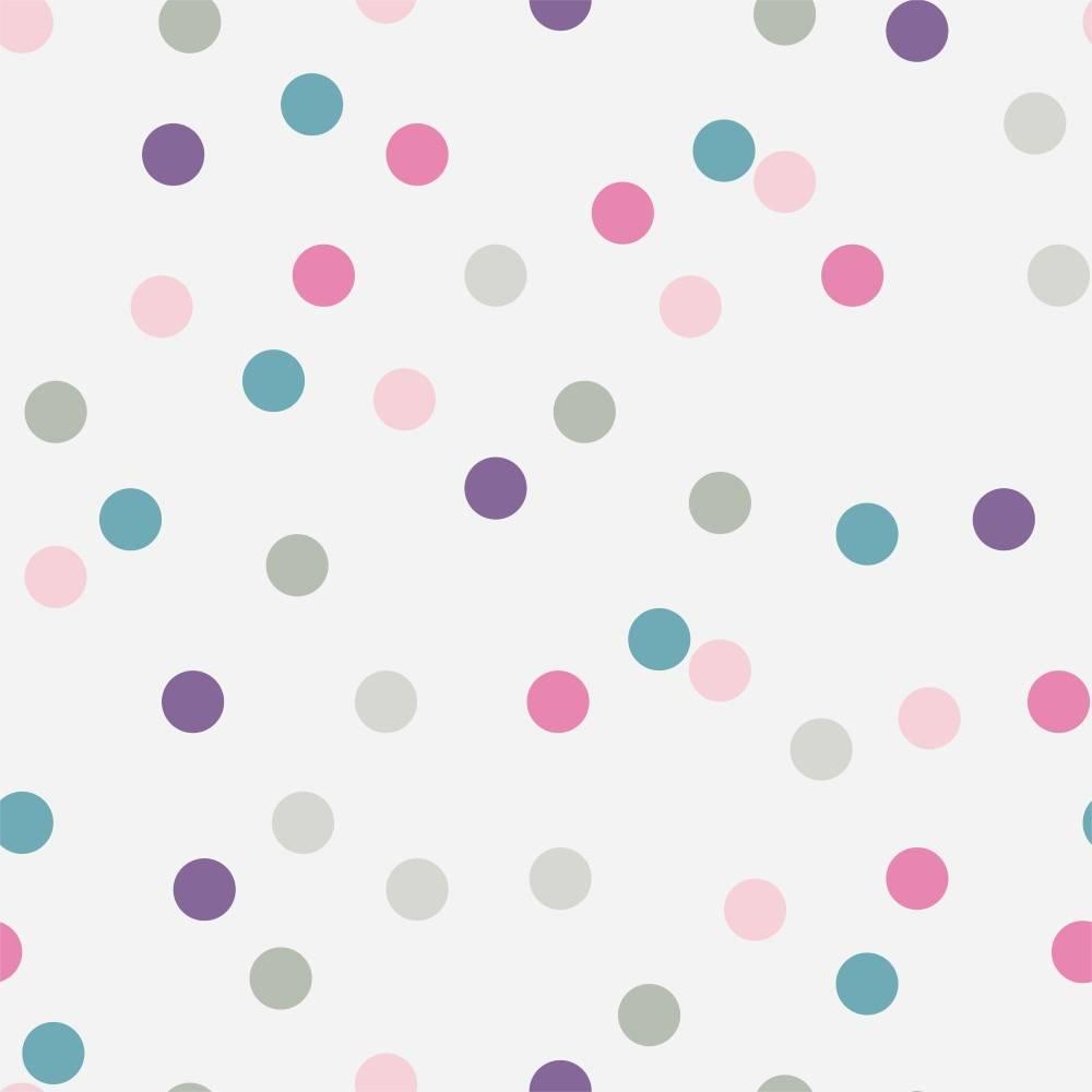 Papel de Parede Adesivo Poá Confete /Rolo imagem 1