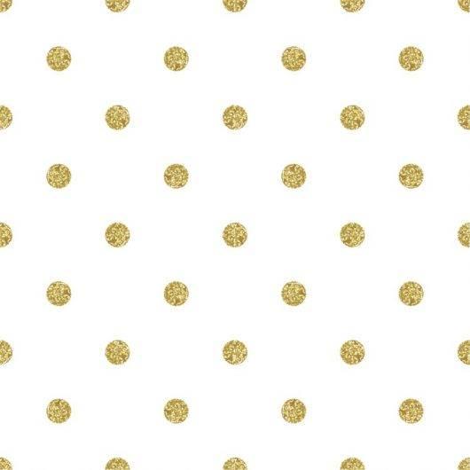 Papel de Parede Adesivo Poá Dourado /Rolo imagem 1
