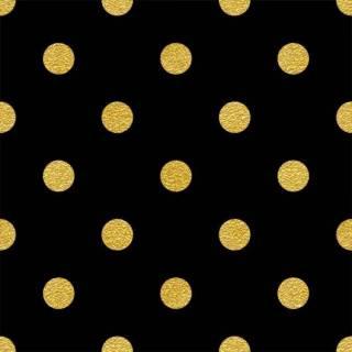 Papel de Parede Adesivo Poá Dourado e Preto /Rolo