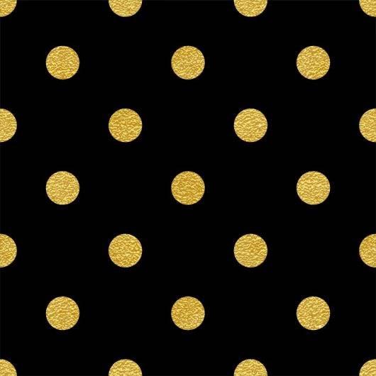 Papel de Parede Adesivo Poá Dourado e Preto /Rolo imagem 1