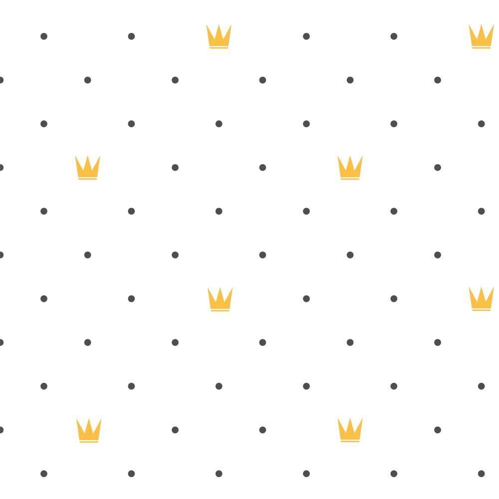 Papel de Parede Adesivo Poá Rei /Rolo imagem 1