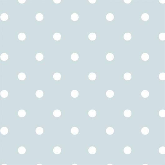 Papel de Parede Poá Verde Menor/Rolo  imagem 1