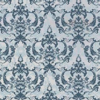 Papel de Parede Arabesco Azul Claro| Adesivo Vinilico