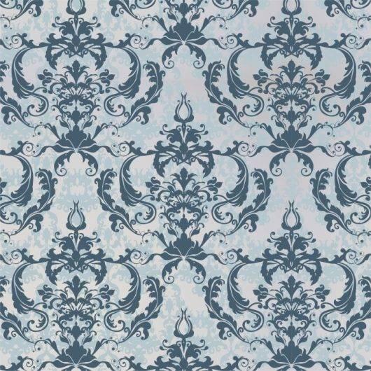 Papel de Parede Arabesco Azul Claro| Adesivo Vinilico imagem 1