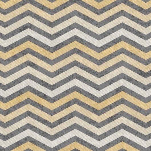 Papel de Parede Chevron Dourado Cinza/Rolo  imagem 1