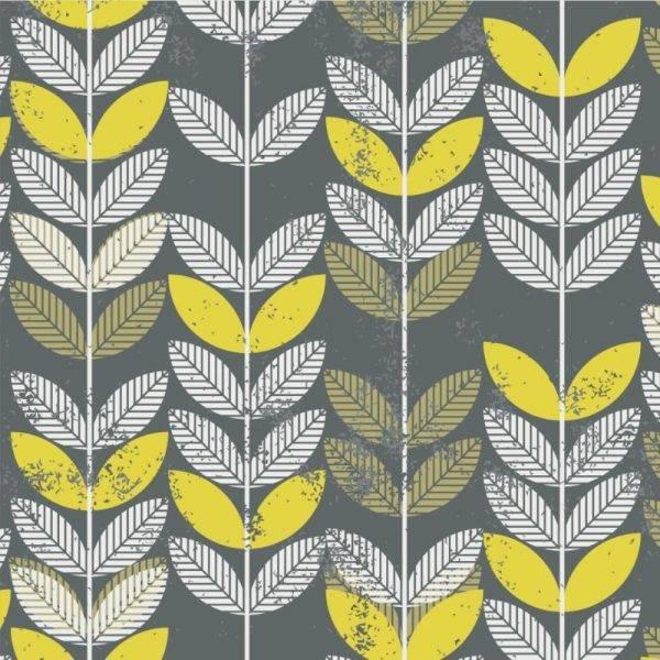 Papel de Parede Folha Amarela | Adesivo Vinílico imagem 1
