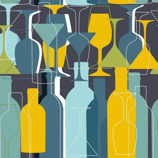 Papel de Parede Adesivo Gourmet Bar Noturno /Rolo imagem 1