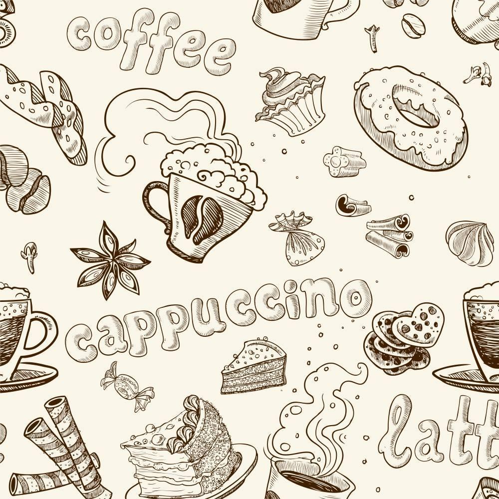 Papel de Parede Adesivo Gourmet Capuccino /Rolo imagem 1