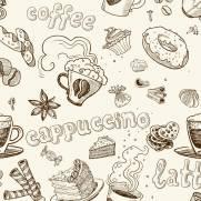 imagem do Papel de Parede Adesivo Gourmet Capuccino /Rolo