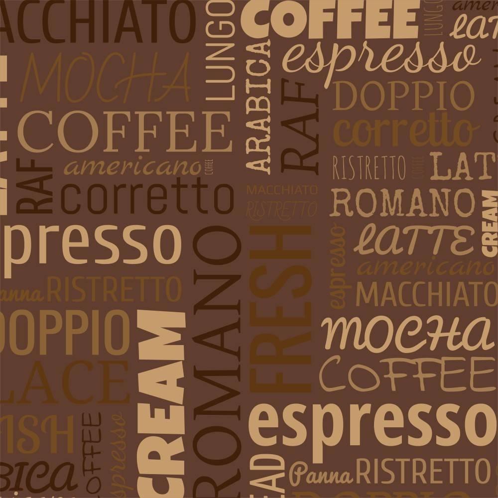 Papel de Parede Adesivo Café / Rolo imagem 1