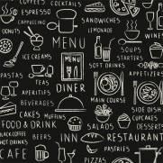 imagem do Papel de Parede Adesivo Gourmet Cardapio /Rolo